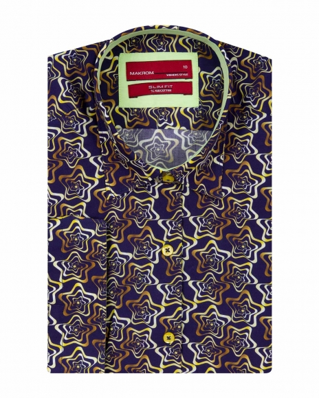 MAKROM - Printed Women 3/4 Sleeved Shirt LS 4126 (1)