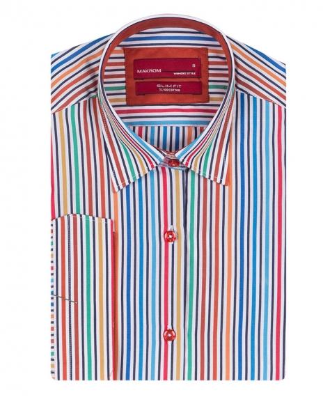 MAKROM - Striped 3/4 Sleeved Womens Shirt LS 4131