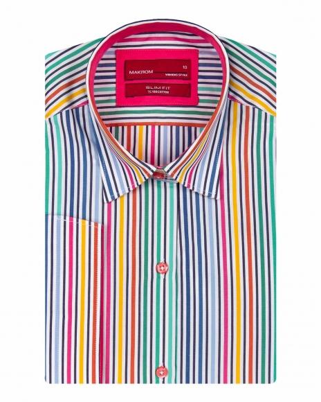 MAKROM - Striped 3/4 Sleeved Womens Shirt LS 4131 (1)