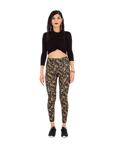 MAKROM - Luxury Black and Gold Womens Leggings TY 004 (1)