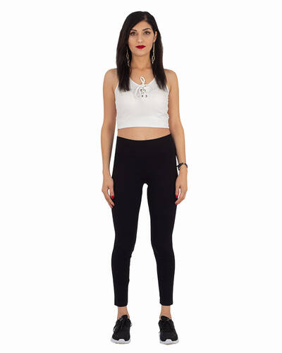 MAKROM - Luxury Black High Waist Leggings TY 001 (1)