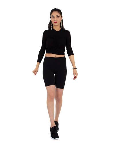 Luxury Black Standart Womens Leggings TY 006
