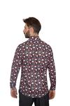 Luxury Butterfly Printed Long Sleeved Mens Shirt SL 7086 - Thumbnail