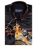 Luxury Chains Printed Long Sleeved Mens Shirt SL 6750 - Thumbnail