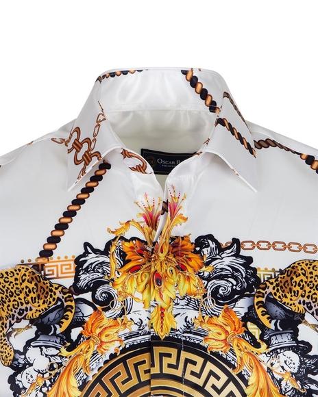 Luxury Chains Printed Long Sleeved Mens Shirt SL 6750
