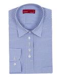 Luxury Check Pattern Printed Womens Shirt LL 3309 - Thumbnail