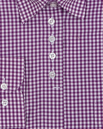 Luxury Check Pattern Printed Womens Shirt LL 3309