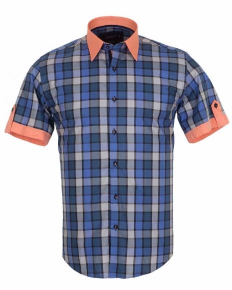 MAKROM - Luxury Check Short Sleeved Shirt SS 186