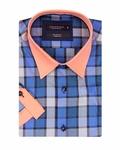 Luxury Check Short Sleeved Shirt SS 186 - Thumbnail