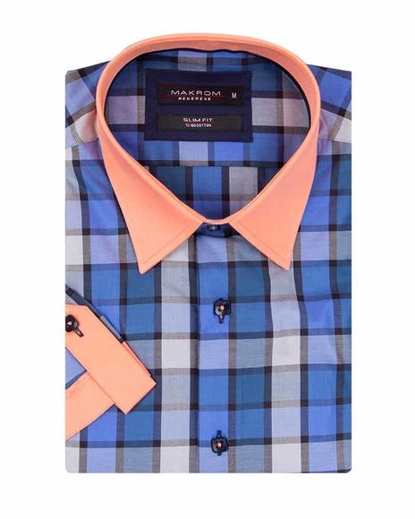 MAKROM - Luxury Check Short Sleeved Shirt SS 186 (1)