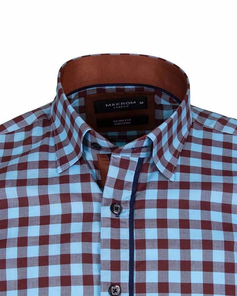 Luxury Check Short Sleeved Shirt with Chest Pocket SS 6050