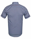 Luxury Check Short Sleeved Shirt with Chest Pocket SS 6050 - Thumbnail