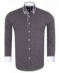 Luxury Circles Printed Double Collar Mens Shirt SL 7060 - Thumbnail