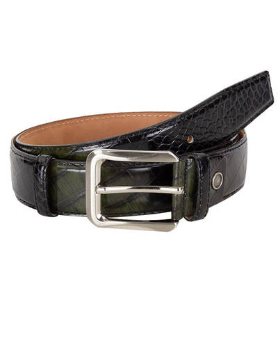 MAKROM - Luxury Crocodile Pattern Leather Belt B 28