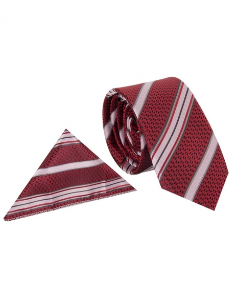 MAKROM - Luxury Diamond and Striped Design Business Necktie KR 08 (Thumbnail - )