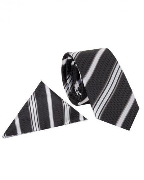 MAKROM - Luxury Diamond and Striped Design Business Necktie KR 08