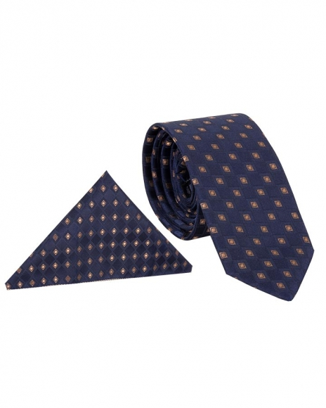 MAKROM - Luxury Diamond Textured Quality Necktie KR 16 (Thumbnail - )