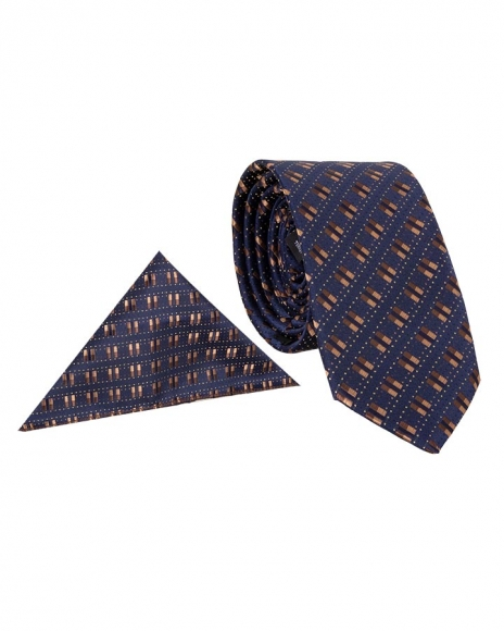 MAKROM - Luxury Double Line Printed Quality Necktie KR 15 (Thumbnail - )