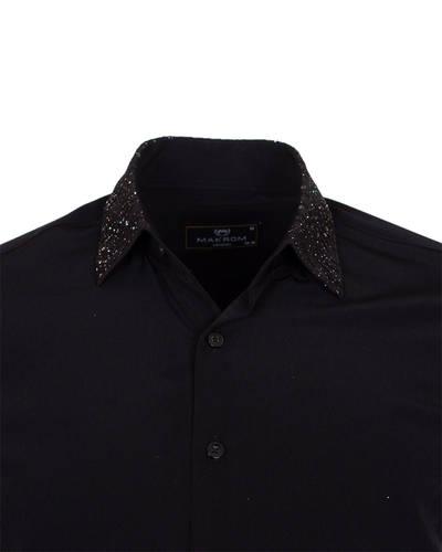 MAKROM - Luxury Fashion Mens Shirt with Shiny Details SL 6984 (1)