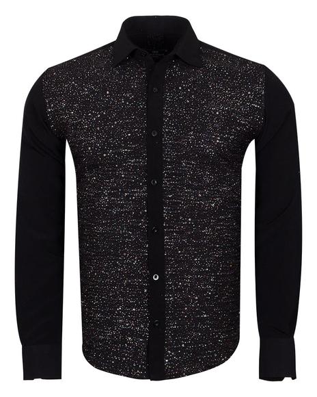 MAKROM - Luxury Fashion Mens Shirt with Shiny Details SL 6991
