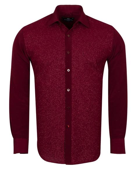 MAKROM - Luxury Fashion Mens Shirt with Silvery Details SL 6992 (Thumbnail - )