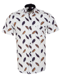 Luxury Feathers Printed Short Sleeved Shirt SS 7055 - Thumbnail