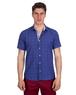 Luxury Floral and Polka Dot Printed Short Sleeved Shirt SS 6689 - Thumbnail