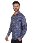 Luxury Floral Printed Long Sleeved Mens Shirt SL 7087 - Thumbnail
