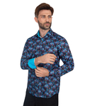 Luxury Floral Printed Mens Shirt SL 7088 - Thumbnail