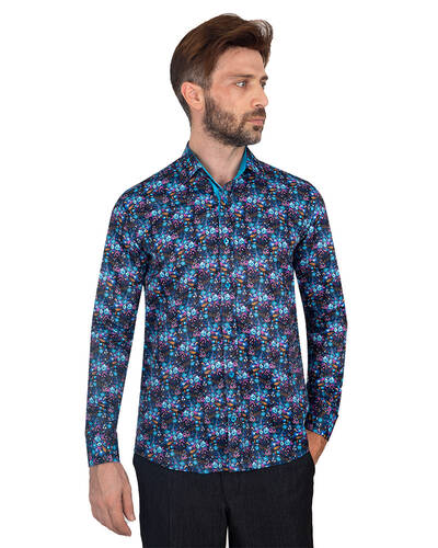 Luxury Floral Printed Mens Shirt SL 7088