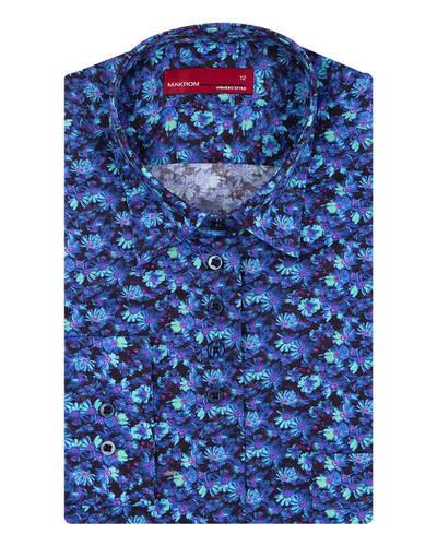 MAKROM - Luxury Floral Printed Womens Shirt LL 3324