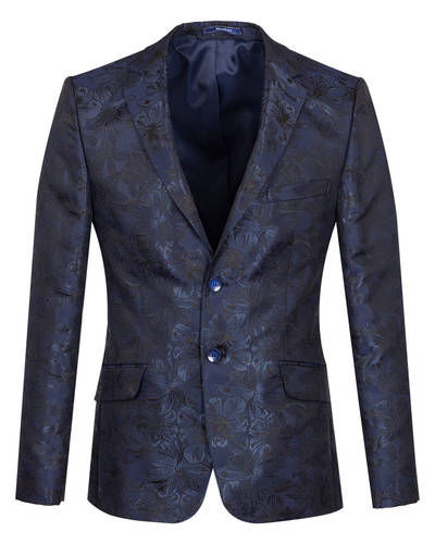 Oscar Banks - Luxury Floral Textured Mens Blazer J 278