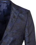 Luxury Floral Textured Mens Blazer J 278 - Thumbnail