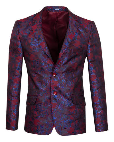 Oscar Banks - Luxury Floral Textured Mens Blazer J 278 (Thumbnail - )