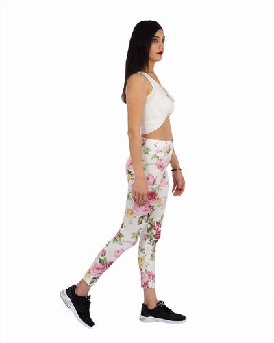 MAKROM - Luxury Flower Printed High Waist Leggings TY 002