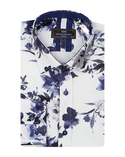 MAKROM - Luxury Flower Printed Long Sleeved Shirt SL 7092 (1)