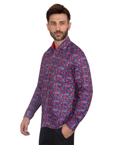 MAKROM - Luxury Flowers Printed Makrom Shirt SL 7103 (1)