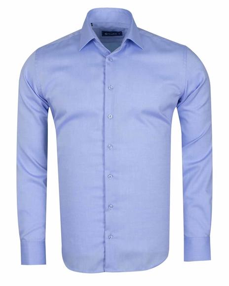 Oscar Banks - Luxury Long Sleeved Classical Cotton Mens Shirt SL 6418