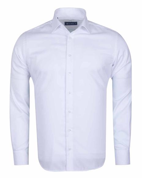 Oscar Banks - Luxury Long Sleeved Classical Cotton Mens Shirt SL 6418 (Thumbnail - )