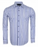 Luxury Long Sleeved Cotton Striped Shirt 5405 - Thumbnail