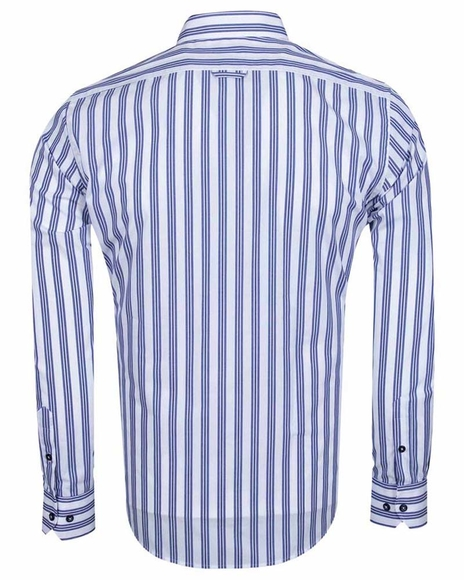 Luxury Long Sleeved Cotton Striped Shirt 5405