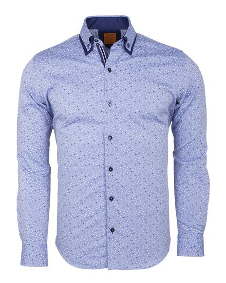 MAKROM - Luxury Long Sleeved Double Collar Mens Shirt SL 6495 (Thumbnail - )