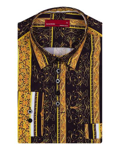 MAKROM - Luxury Long Sleeved Printed Womens Shirt LL 3320