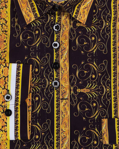 MAKROM - Luxury Long Sleeved Printed Womens Shirt LL 3320 (1)