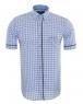 Luxury MAKROM Short Sleeved Check Shirt SS 6049 - Thumbnail