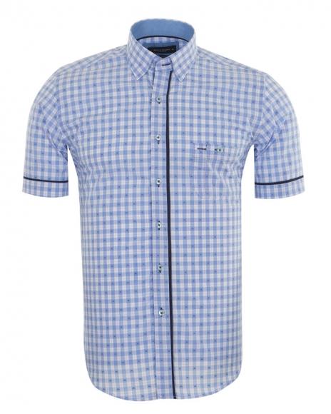 MAKROM - Luxury MAKROM Short Sleeved Check Shirt SS 6049