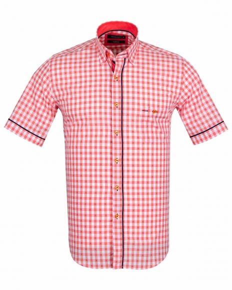 MAKROM - Luxury MAKROM Short Sleeved Check Shirt SS 6049 (Thumbnail - )