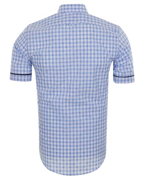 MAKROM - Luxury MAKROM Short Sleeved Check Shirt SS 6049 (1)