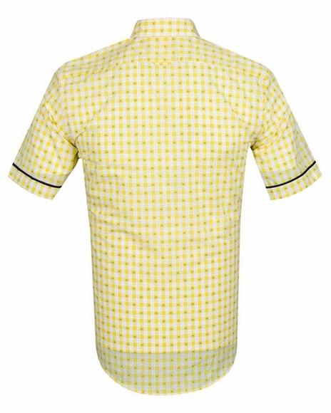 Luxury MAKROM Short Sleeved Check Shirt SS 6049