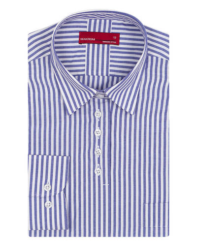 MAKROM - Luxury Makrom Striped Womens Shirt LL 3316 (Thumbnail - )